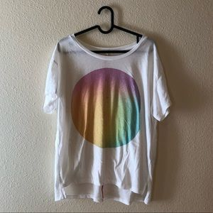 Nordstrom Sundry rainbow circle graphic t-shirt